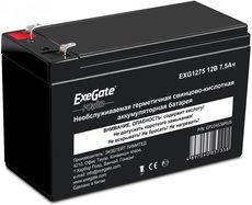Аккумуляторная батарея Exegate EXG 1275 12V7.5Ah F2