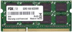 Оперативная память 8Gb DDR-III 1600MHz Foxline SO-DIMM (FL1600D3S11-8G)