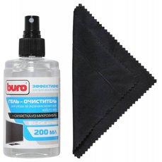 Buro BU-GEL_SCREEN чистящие салфетки + гель для экранов и оптики, 200 мл