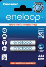 Аккумулятор Panasonic Eneloop (AAA, 750mAh, 2 шт)