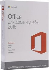 Microsoft Office 2016 Home and Student 32-bit/x64 Russian No Skype Only Medialess (79G-04713)