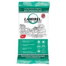 Fellowes LA-61617 антибактериальные чистящие салфетки Lamirel для поверхностей, 24шт