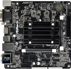 Материнская плата ASRock J4205-ITX + Pentium J4205 onboard