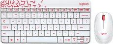 Клавиатура + мышь Logitech Wireless Desktop MK240 Nano White (920-008212)