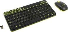 Клавиатура + мышь Logitech Wireless Combo MK240 Nano Black/Yellow (920-008213)
