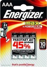 Батарейка Energizer Max (AAA, 4 шт)
