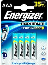 Батарейка Energizer Maximum (AAA, 4 шт)