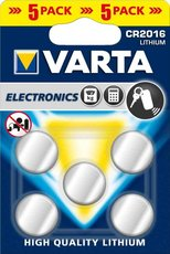Батарейка Varta (CR2016, 5 шт)