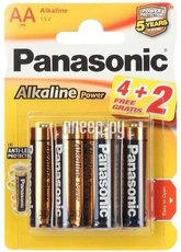 Батарейка Panasonic Alkaline Power (AA, Alkaline, 6 шт)