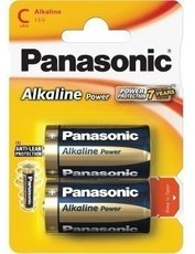 Батарейка Panasonic Alkaline Power (C, Alkaline, 2 шт)