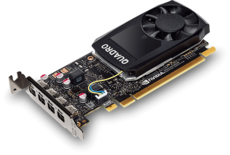 Профессиональная видеокарта nVidia Quadro P1000 PNY PCI-E 4096Mb (VCQP1000DVIBLK-1) OEM