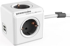 Сетевой удлинитель Allocacoc PowerCube Extended Grey 2x USB