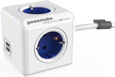 Сетевой удлинитель Allocacoc PowerCube Extended Blue 2x USB