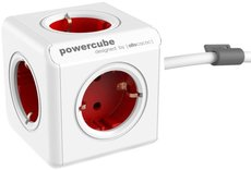 Сетевой удлинитель Allocacoc PowerCube Extended Red 1.5м