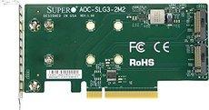 Переходная плата SuperMicro AOC-SLG3-2M2-O