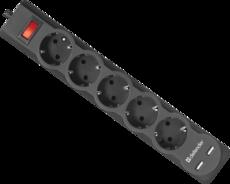 Сетевой фильтр Defender DFS-753 3м