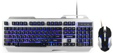 Клавиатура + мышь Гарнизон GKS-510G Black/Grey