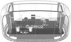 Док-станция для HDD Orico 6139C3 Clear
