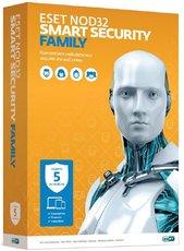 ESET NOD32 Smart Security Family - лицензия на 1 год на 5 ПК (NOD32-ESM-NS(BOX)-1-5)