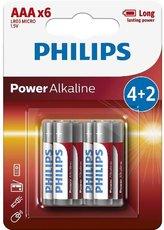 Батарейка Philips Power Alkaline (1.5V, AAA, 6 шт)