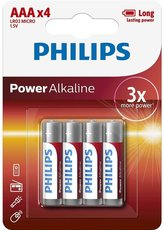 Батарейка Philips Power Alkaline (1.5V, AAA, 4 шт)