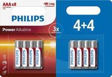 Батарейка Philips Power Alkaline (1.5V, AAA, 8 шт)