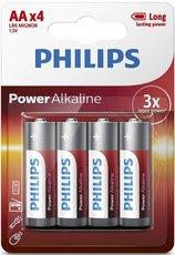 Батарейка Philips Power Alkaline (1.5V, AA, 4 шт)