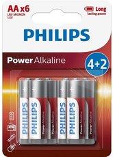 Батарейка Philips Power Alkaline (1.5V, AA, 6 шт)