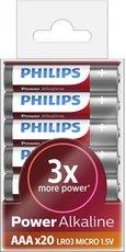Батарейка Philips Power Alkaline (AAA, 20 шт)