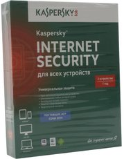 Kaspersky Internet Security Multi-Device Russian. 3-Device 1 year Base Box (KL1941RBCFS)