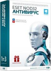 ESET NOD32 Антивирус + Bonus - лицензия на 1 годна 3ПК (NOD32-ENA-1220(BOX)-1-1)