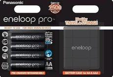 Аккумулятор Panasonic Eneloop Pro (AA, 2500mAh, 4 шт) + футляр