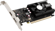 Видеокарта nVidia GeForce GT1030 MSI PCI-E 2048Mb (GT 1030 2GD4 LP OC)