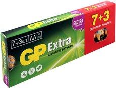 Батарейка GP 15AX Extra Alkaline (AA, 10 шт)