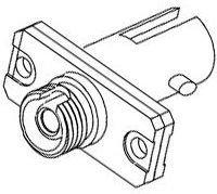 Оптический проходной адаптер Hyperline FA-S01Z-FC/ST-N/WH-SL