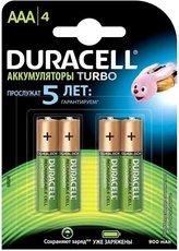 Аккумулятор Duracell (AAA, 900mAh, NiMH, 4 шт)