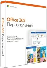 Microsoft Office 365 Personal Russian Subscr 1YR Russia Only Medialess (QQ2-00733)