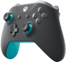 Геймпад Microsoft Xbox One Wireless Controller Grey/Blue (WL3-00106)