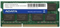 Оперативная память 2Gb DDR-III 1333Mhz ADATA SO-DIMM (AD3S1333B2G9-R)