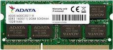 Оперативная память 2Gb DDR-III 1600Mhz ADATA SO-DIMM (AD3S1600C2G11-R)