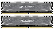 Оперативная память 16Gb DDR4 2666MHz Crucial Ballistix Sport LT Gray (BLS2K8G4D26BFSBK) (2x8Gb KIT)