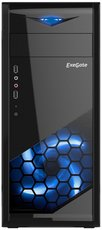 Корпус Exegate EVO-8205 600W Black/Blue Light