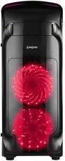 Корпус Exegate EVO-8206 Black/Red Light