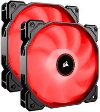 Вентиляторы Corsair AF140 LED (2018) Red Dual Pack [CO-9050089-WW]