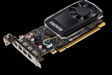 Профессиональная видеокарта nVidia Quadro P1000 PNY PCI-E 4096Mb (VCQP1000BLK-5) OEM