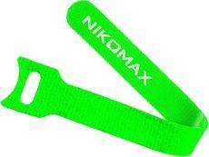 Стяжка-липучка NIKOMAX NMC-CTV210-16-SB-GN-10