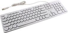 Клавиатура Oklick 420MRL White USB