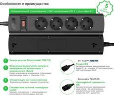 Удлинитель APC PZ42I-GR UPS Power Strip