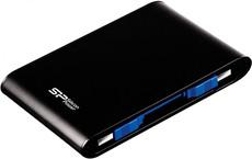Внешний жесткий диск 2Tb Silicon Power Armor A80 Black (SP020TBPHDA80S3K)