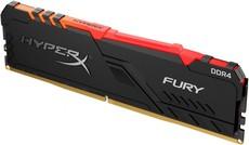 Оперативная память 8Gb DDR4 2666MHz Kingston HyperX Fury RGB (HX426C16FB3A/8)